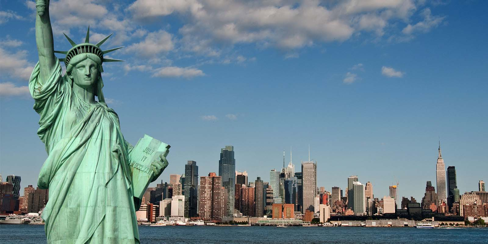 Statue of Liberty and New York City